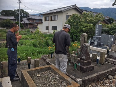 墓石の解体移動再建工事