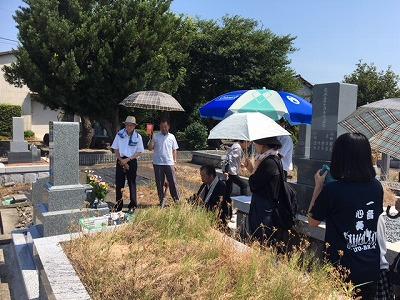 宇田墓地にてお墓開き