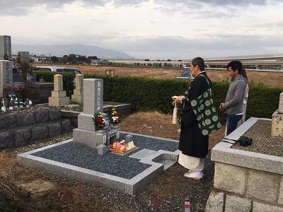 直江墓地にてお墓開き