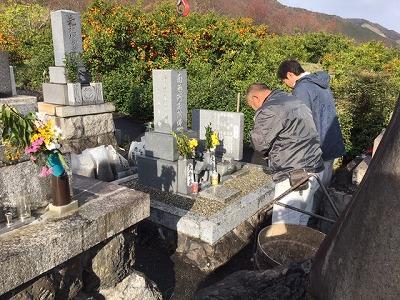 吉田墓地にてお墓じまい