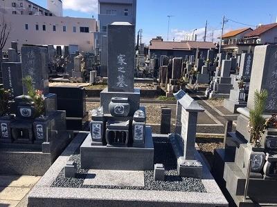 お墓の解体再建工事