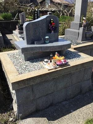 樋井戸墓地にてお墓開き