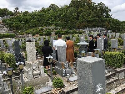 圓満寺霊苑にてお墓開き