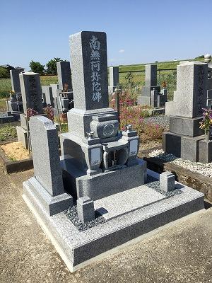 野寺墓地にてお墓開き