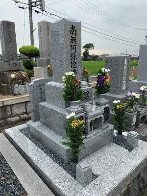 仁位墓地にてお墓開き