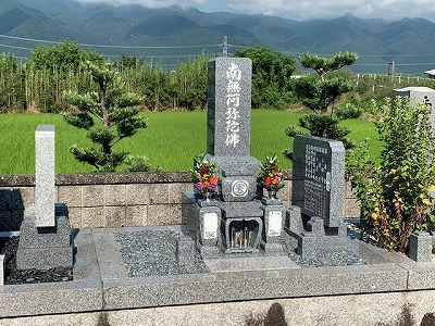 大場本田墓地にてお墓開き