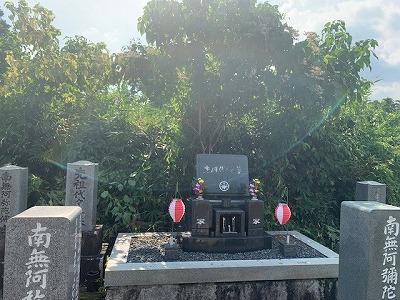 樋井戸墓地にてお墓掃除・お参り代行