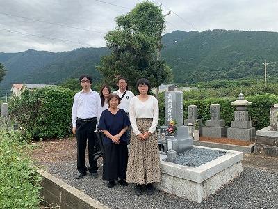 太田墓地にてお墓開き