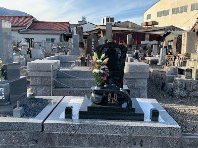 高田墓地にてお墓開き