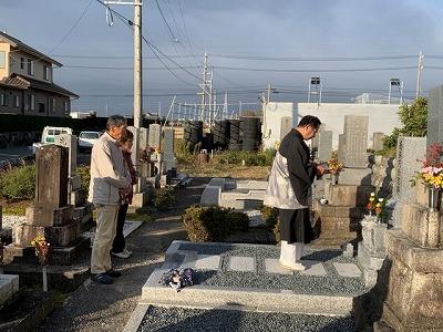 輪之内町にて墓石建替工事