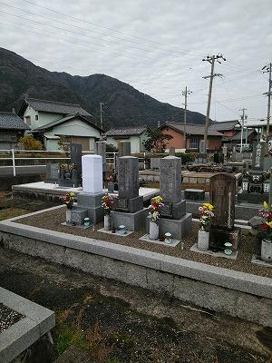 夫婦墓建立工事
