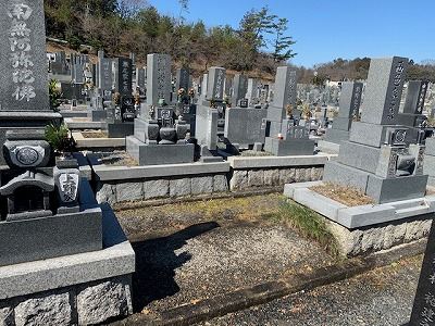 岐阜市営墓地にてお墓じまい