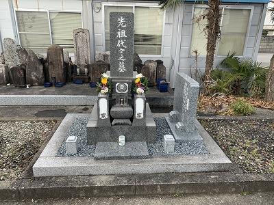 墓誌取付け工事