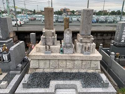 羽島市にて墓石クリーニング