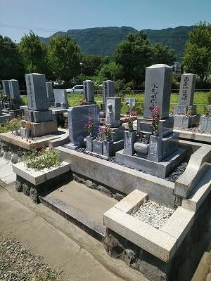 墓誌の追加工事